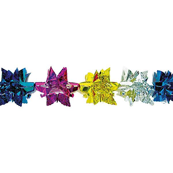 гирлянда ИСКРЫ золото, розовый, синий, красныйНовогодняя мишура и бусы<br>Характеристики:<br><br>• тип игрушки: елочное украшение;<br>• цвет: золотой, розовый, синий, красный;<br>• размер: 20х20х1,5 см;<br>• бренд: Marko Ferenzo;<br>• возраст: от 3 лет;<br>• вес: 26 гр;<br>• материал: пластик.<br><br>Гирлянда «Искры» (золото, розовый, синий, красный) станет отличным дополнением к новогодним украшениям елки или интерьера дома к праздникам. С помощью гирлянды ребенок сможет сам поучаствовать в подготовке к празднику и украсить дом.<br><br>Этот декор подходит для ребенка от трех лет. Елочное украшение от бренда Marko Ferenzo представляет собой цветную гирлянду, которая отлично дополнит декор дома.  Его можно использовать для украшения новогодней елки или как элемент декора, подвешивая в самых разных местах интерьера.  Использование игрушек и аксессуаров для украшения позволяет ребенку проявить свои творческие способности, пофантазировать или раскрыть талант. Все элементы  являются абсолютно безопасными для ребенка и изготовлены из высококачественных материалов.<br><br>Гирлянду «Искры» (золото, розовый, синий, красный)можно купить в нашем интернет-магазине.<br>Ширина мм: 200; Глубина мм: 200; Высота мм: 15; Вес г: 26; Возраст от месяцев: 36; Возраст до месяцев: 2147483647; Пол: Унисекс; Возраст: Детский; SKU: 7140279;