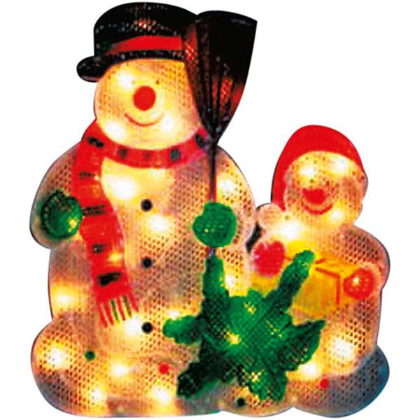 35 ламп, фигура снеговик, разноцветный, 33*33,5 см,  белый влагозащит провод 1,5 мНовогодние световые фигуры<br>Характеристики:<br><br>• тип игрушки: интерьерное украшение;<br>• размер: 47х37х2 см;<br>• бренд: Marko Ferenzo;<br>• возраст: от 3 лет;<br>• вес: 26 гр;<br>• материал: пластик, металл, текстиль.<br><br>Интерьерное украшение «Снеговик» с лампочками станет отличным дополнением к новогодним украшениям елки или интерьера дома к праздникам. Такое украшение станет актуальным подарком, который позволит заранее подготовиться к празднованию Нового года. С помощью него ребенок сможет сам поучаствовать в подготовке к празднику и украсить дом.<br>Эту игрушку может использовать ребенок от трех лет. <br><br>Интерьерное украшение «Снеговик» от бренда Marko Ferenzo представляет собой полупрозрачного снеговичка и его друга с 35 лампочками внутри. Интерьерная игрушка в виде снеговичков может светиться, благодаря чему дом будет выглядеть в Новый год сказочно и великолепно. Игрушка станет отличным дополнением среди других украшений новогоднего дома. Игрушка изготовлена из пластика, металла и текстиля.<br><br>Все элементы хорошо приклеены друг к другу качественным клеем и не оторвутся. Такую игрушку можно использовать как элемент декора. Использование таких игрушек позволяет ребенку проявить свои творческие способности, пофантазировать или раскрыть талант. Все элементы украшения являются абсолютно безопасными для ребенка и изготовлены из высококачественных материалов.<br><br>Интерьерное украшение «Снеговик» можно купить в нашем интернет-магазине.<br>Ширина мм: 470; Глубина мм: 370; Высота мм: 20; Вес г: 26; Возраст от месяцев: 36; Возраст до месяцев: 2147483647; Пол: Унисекс; Возраст: Детский; SKU: 7140286;