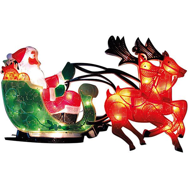 35 ламп, фигура Санки, разноцветный, 27,5*43 см, белый влагозащит провод 1,5 мНовогодние световые фигуры<br>Новогодние  и елочные украшения, в т.ч. пластиковые шары, украшения фигурные, изображающие представителей флоры, фауны, сказочных персонажей, верхушки, бусы, ветки, бантики, гирлянды и фонарики  (без подключения к сети переменного тока), конфетти, мишура, дождик, серпантин,  панно, венки, ели, ленты декоративные<br><br>Ширина мм: 25<br>Глубина мм: 280<br>Высота мм: 440<br>Вес г: 26<br>Возраст от месяцев: 36<br>Возраст до месяцев: 2147483647<br>Пол: Унисекс<br>Возраст: Детский<br>SKU: 7140288