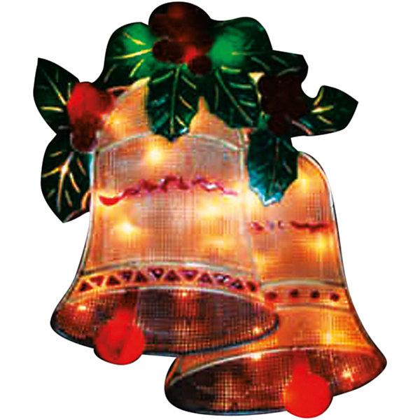 35 ламп, фигура Колокольчики, разноцвет, 27,5*36 см, белый влагозащит провод 1,5 мНовогодние световые фигуры<br>Новогодние  и елочные украшения, в т.ч. пластиковые шары, украшения фигурные, изображающие представителей флоры, фауны, сказочных персонажей, верхушки, бусы, ветки, бантики, гирлянды и фонарики  (без подключения к сети переменного тока), конфетти, мишура, дождик, серпантин,  панно, венки, ели, ленты декоративные<br><br>Ширина мм: 25<br>Глубина мм: 275<br>Высота мм: 360<br>Вес г: 26<br>Возраст от месяцев: 36<br>Возраст до месяцев: 2147483647<br>Пол: Унисекс<br>Возраст: Детский<br>SKU: 7140289