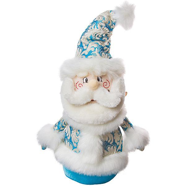 украшение ДЕД МОРОЗ мягконабивной 35 см, голуб. с серебромЁлочные игрушки<br>Характеристики:<br><br>• тип игрушки: новогоднее украшение;<br>• размер: 20х42х12 см;<br>• цвет: голубой, белый;<br>• бренд: Marko Ferenzo;<br>• возраст: от 3 лет;<br>• вес: 47 гр;<br>• материал: текстиль, холлофайбер.<br><br>Новогоднее украшение «ДЕД МОРОЗ» станет отличным дополнением к новогодним украшениям елки или интерьера дома к праздникам. Такое украшение станет актуальным подарком, который позволит заранее подготовиться к празднованию Нового года. С помощью него ребенок сможет сам поучаствовать в подготовке к празднику и украсить дом.<br><br>Эту игрушку может использовать ребенок от трех лет. Новогоднее украшение «ДЕД МОРОЗ» от бренда Marko Ferenzo представляет собой текстильную фигурку Деда Мороза в голубом костюмчике. Новогодняя игрушка в виде Деда Мороза украсит любую новогоднюю елку. Игрушка станет отличным дополнением среди других украшений новогоднего дома. Игрушка изготовлена из холлофайбера и текстиля.<br><br>Все элементы хорошо приклеены друг к другу качественным клеем и не оторвутся. Такую игрушку можно использовать как элемент декора. Использование таких игрушек позволяет ребенку проявить свои творческие способности, пофантазировать или раскрыть талант. Все элементы украшения являются абсолютно безопасными для ребенка и изготовлены из высококачественных материалов.<br><br>Новогодне украшение «ДЕД МОРОЗ» можно купить в нашем интернет-магазине.<br><br>Ширина мм: 200<br>Глубина мм: 420<br>Высота мм: 120<br>Вес г: 47<br>Возраст от месяцев: 36<br>Возраст до месяцев: 2147483647<br>Пол: Унисекс<br>Возраст: Детский<br>SKU: 7140298
