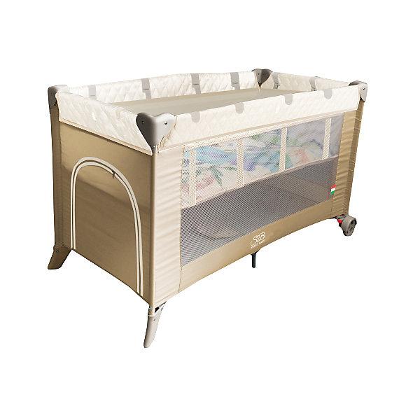 Манеж-кровать Sweet Baby Intelletto 5 в 1, BeigeМанежи-кровати<br>Манеж-кровать Sweet Baby Intelletto 5 в 1, Beige<br><br>1. Кровать для новорожденного малыша (2-й уровень дна)<br>2. Кровать для подросшего ребенка<br>3. Манеж<br>4. Развивающий матрасик для малыша в манеже<br>5. Развивающий матрасик в качестве игрового коврика для подросшего ребенка.<br><br>Характеристики:<br><br>Развивающий коврик в виде матрасика.<br>2 уровня положения дна<br>Лаз на молнии<br>Москитная сетка<br>Чехол для переноски манежа в комплекте.<br>Компактный в сложенном виде, легко расскладывается, жесткое дно. Mягкий матрас в комплекте.<br>2 колесика со стоперами для удобного перемещения, дополнительная подставка в центре.<br><br>Вес 9 кг<br>Размер: 120х60х76 см<br><br>Ширина мм: 60<br>Глубина мм: 120<br>Высота мм: 76<br>Вес г: 10600<br>Возраст от месяцев: 0<br>Возраст до месяцев: 36<br>Пол: Унисекс<br>Возраст: Детский<br>SKU: 7140469