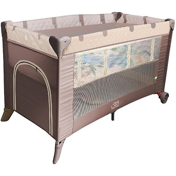 Манеж-кровать Sweet Baby Intelletto 5 в 1, CacaoДетские манежи<br>Манеж-кровать Sweet Baby Intelletto 5 в 1, Cacao<br><br>1. Кровать для новорожденного малыша (2-й уровень дна)<br>2. Кровать для подросшего ребенка<br>3. Манеж<br>4. Развивающий матрасик для малыша в манеже<br>5. Развивающий матрасик в качестве игрового коврика для подросшего ребенка.<br><br>Характеристики:<br><br>Развивающий коврик в виде матрасика.<br>2 уровня положения дна<br>Лаз на молнии<br>Москитная сетка<br>Чехол для переноски манежа в комплекте.<br>Компактный в сложенном виде, легко расскладывается, жесткое дно. Mягкий матрас в комплекте.<br>2 колесика со стоперами для удобного перемещения, дополнительная подставка в центре.<br><br>Вес 9 кг<br>Размер: 120х60х76 см<br><br>Ширина мм: 60<br>Глубина мм: 120<br>Высота мм: 76<br>Вес г: 10600<br>Возраст от месяцев: 0<br>Возраст до месяцев: 36<br>Пол: Унисекс<br>Возраст: Детский<br>SKU: 7140470