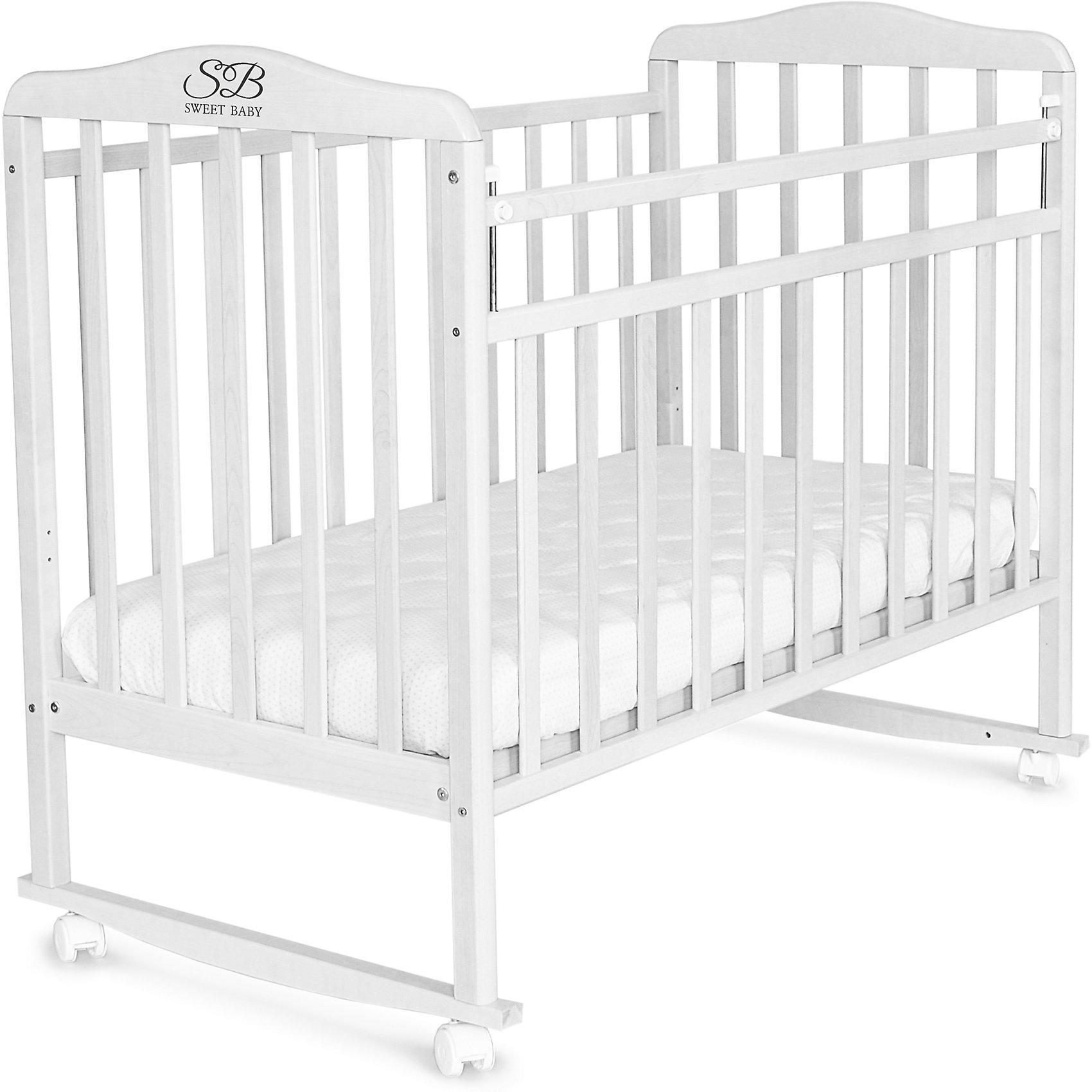 Кроватка Sweet Baby Mario Bianco, белый от myToys