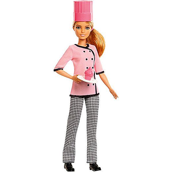 Кукла Mattel Barbie Кем быть? Кондитер, 29 смБренды кукол<br><br><br>Ширина мм: 115<br>Глубина мм: 65<br>Высота мм: 330<br>Вес г: 243<br>Возраст от месяцев: 36<br>Возраст до месяцев: 120<br>Пол: Женский<br>Возраст: Детский<br>SKU: 7140493