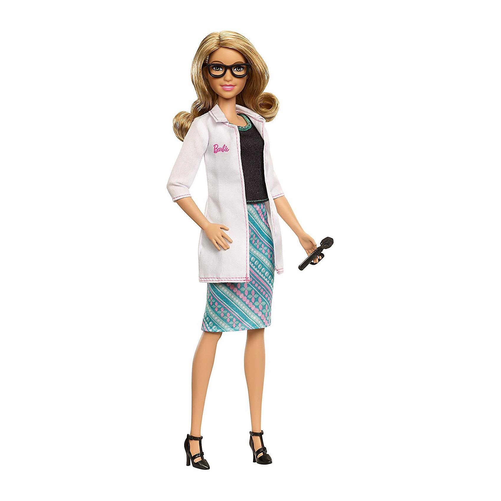 Кукла Mattel Barbie Кем быть? Окулист, 29 смБренды кукол<br><br><br>Ширина мм: 115<br>Глубина мм: 65<br>Высота мм: 330<br>Вес г: 243<br>Возраст от месяцев: 36<br>Возраст до месяцев: 120<br>Пол: Женский<br>Возраст: Детский<br>SKU: 7140494