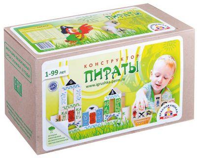 Деревянный конструктор Краснокамская игрушка Пираты , 40 деталей