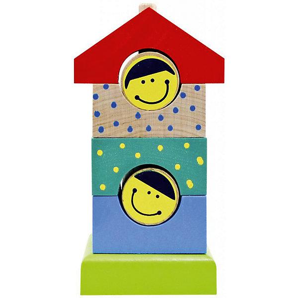 Деревянная пирамидка Alatoys Домик, 7 деталейДеревянные игрушки<br>Характеристики:<br><br>• возраст: от 3 лет<br>• комплектация: основание, 6 деталей<br>• материал: древесина (береза)<br>• размер пирамидки: 15х7,5х7 см.<br><br>Яркая пирамидка «Домик» - правильная игрушка, которая должна быть у каждого малыша. Разбирая и собирая пирамидку, ребенок научится узнавать формы и различать цвета, разовьет моторику рук и логическое мышление.<br><br>Детали пирамидки изготовлены из цельной древесины березы, тщательно отшлифованы и окрашены безопасными акриловыми красками. Мелкие детали отсутствуют. Пирамидка не потеряет привлекательный вид, даже если играть с ней каждый день.<br><br>Пирамидку ALATOYS ПДМ02 Пирамидку деревянную Домик 7 деталей можно купить в нашем интернет-магазине.<br><br>Ширина мм: 150<br>Глубина мм: 75<br>Высота мм: 70<br>Вес г: 355<br>Возраст от месяцев: 36<br>Возраст до месяцев: 2147483647<br>Пол: Унисекс<br>Возраст: Детский<br>SKU: 7140526