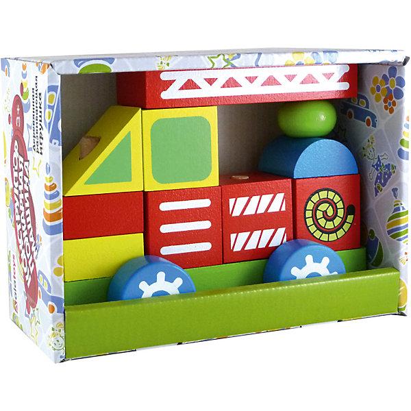 Деревянный конструктор-каталка Alatoys Пожарная машинаДеревянные конструкторы<br>Характеристики:<br><br>• возраст: от 1 года<br>• количество деталей: 11 шт.<br>• материал: древесина (береза)<br>• размер собранной машины: 13х17х8 см.<br>• упаковка: картонная коробка<br>• размер упаковки: 13,5х19х8,5 см.<br>• вес: 575 гр.<br><br>Конструктор-каталка «Пожарная машина» - правильная игрушка, которая должна быть у каждого мальчика.<br><br>Основание пожарной машины - это платформа на колесиках со штырьками, на которые нанизываются детали конструктора. Собранной пожарной машиной можно играть, как игрушкой-каталкой.<br><br>Элементы конструктора изготовлены из цельной древесины березы, тщательно отшлифованы, покрыты нетоксичными акриловыми красками, безопасными для здоровья малыша. Мелкие детали отсутствуют.<br><br>Конструктор развивает мелкую моторику, пространственное и логическое мышление.<br><br>Конструктор ALATOYS ККМ01 Конструктор-каталку Пожарная машина можно купить в нашем интернет-магазине.<br><br>Ширина мм: 135<br>Глубина мм: 190<br>Высота мм: 85<br>Вес г: 575<br>Возраст от месяцев: 36<br>Возраст до месяцев: 2147483647<br>Пол: Унисекс<br>Возраст: Детский<br>SKU: 7140529