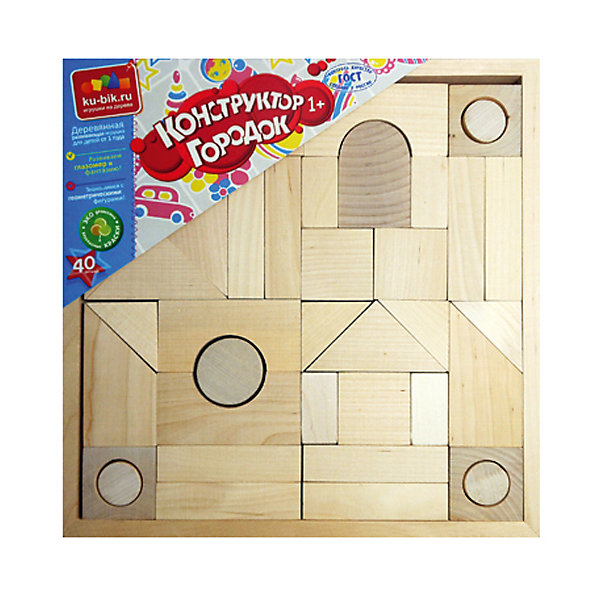 Деревянный конструктор Alatoys Городок, 40 деталей (неокрашенный)Деревянные конструкторы<br>Характеристики:<br><br>• возраст: от 1 года<br>• количество деталей: 40 шт.<br>• материал: древесина (береза)<br>• упаковка: деревянная коробка открытого типа<br>• размер упаковки: 26,5х26,5х4 см.<br>• вес: 1,5 кг.<br><br>Конструктор «Городок» — это замечательный конструктор для самых маленьких. Из деталей конструктора ребенок сможет создать свой собственный город.<br><br>Детали конструктора изготовлены из цельной древесины березы, тщательно отшлифованы. Они не покрыты краской, поэтому ребенок сможет самостоятельно раскрасить детали. Конструктор не потеряет привлекательный вид, даже если играть с ним каждый день. Мелкие детали отсутствуют.<br><br>Конструктор знакомит малыша с геометрическими формами и размерами предметов, развивает мелкую моторику и пространственное воображение. <br><br>Конструктор ALATOYS К2400 Конструктор Городок неокрашенный 40 деталей можно купить в нашем интернет-магазине.<br><br>Ширина мм: 265<br>Глубина мм: 265<br>Высота мм: 40<br>Вес г: 1511<br>Возраст от месяцев: 36<br>Возраст до месяцев: 2147483647<br>Пол: Унисекс<br>Возраст: Детский<br>SKU: 7140530