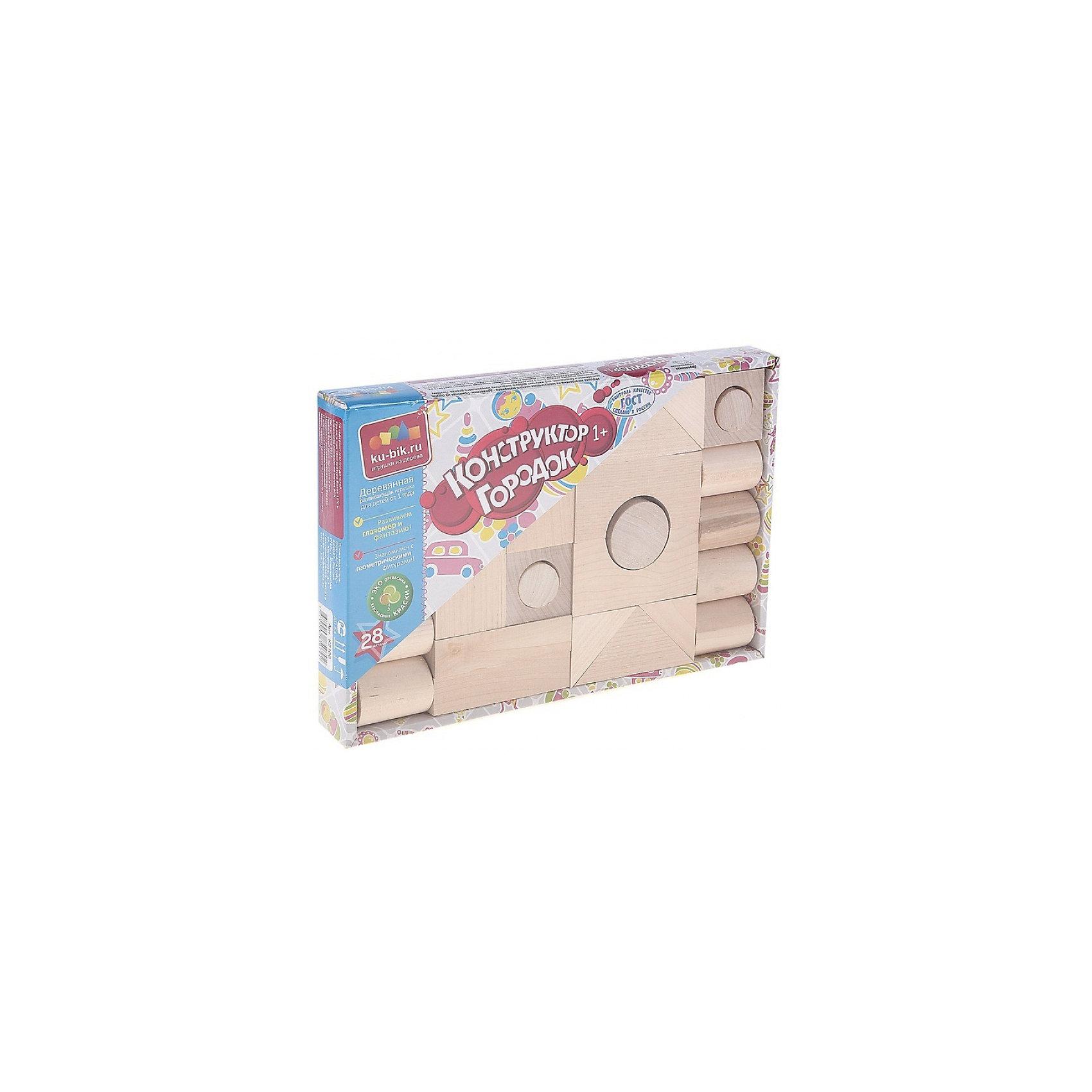 Деревянный конструктор Alatoys Городок, 28 деталей (неокрашенный)Деревянные конструкторы<br>Характеристики:<br><br>• возраст: от 1 года<br>• количество деталей: 28 шт.<br>• материал: древесина (береза)<br>• упаковка: картонная коробка открытого типа<br>• размер упаковки: 25,5х17,5х3 см.<br>• вес: 742 гр.<br><br>Конструктор «Городок» — это замечательный конструктор для самых маленьких. Из деталей конструктора ребенок сможет создать свой собственный город.<br><br>Детали конструктора изготовлены из цельной древесины березы, тщательно отшлифованы. Они не покрыты краской, поэтому ребенок сможет самостоятельно раскрасить детали. Конструктор не потеряет привлекательный вид, даже если играть с ним каждый день. Мелкие детали отсутствуют.<br><br>Конструктор знакомит малыша с геометрическими формами и размерами предметов, развивает мелкую моторику и пространственное воображение. <br><br>Конструктор ALATOYS К2100 Конструктор Городок неокрашенный 28 деталей можно купить в нашем интернет-магазине.<br><br>Ширина мм: 175<br>Глубина мм: 255<br>Высота мм: 30<br>Вес г: 742<br>Возраст от месяцев: 36<br>Возраст до месяцев: 2147483647<br>Пол: Унисекс<br>Возраст: Детский<br>SKU: 7140531