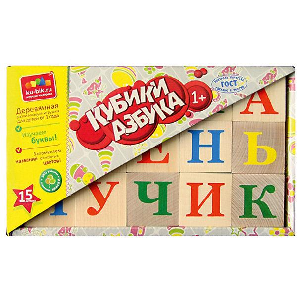 Деревянные кубики Alatoys Азбука, 15 штук (неокрашенные)Деревянные игрушки<br>Характеристики:<br><br>• возраст: от 3 лет<br>• комплектация: 15 кубиков<br>• материал: древесина<br>• упаковка: картонная коробка открытого типа<br>• размер упаковки: 13х22х4,5 см.<br>• вес: 644 гр.<br><br>Обучающие кубики Alatoys помогут малышу выучить алфавит. На неокрашенных гранях кубиков нанесены яркие буквы.<br><br>Попросите малыша выбрать любой понравившийся кубик и расскажите ему про букву на его грани. Выберите два кубика и сравните, какая буква обозначает гласный звук, а какая согласный. Обратите внимание ребенка на буквы, которые не имеют собственного звука. Объясните, как эти буквы влияют на соседние.<br><br>Играя в кубики, ребенок будет учиться составлять слоги, простые слова, или просто строить различные башенки и пирамидки.<br><br>Кубики изготовлены из цельной древесины и тщательно отшлифованы. Кубики долговечны и безопасны, их приятно держать в руках.<br><br>Кубики ALATOYS КБА1500 Кубики Азбука неокрашенные 15шт. можно купить в нашем интернет-магазине.<br><br>Ширина мм: 130<br>Глубина мм: 220<br>Высота мм: 45<br>Вес г: 644<br>Возраст от месяцев: 36<br>Возраст до месяцев: 2147483647<br>Пол: Унисекс<br>Возраст: Детский<br>SKU: 7140536