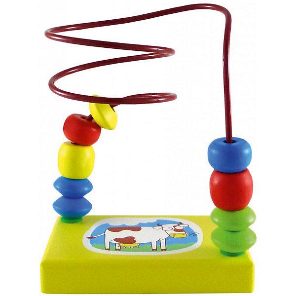 Деревянный лабиринт Alatoys КороваДеревянные игрушки<br>Характеристики:<br><br>• возраст: от 1 года<br>• материал: древесина (береза), металл<br>• размер упаковки: 21х15х7 см.<br>• вес: 168 гр.<br><br>Лабиринт «Корова» - правильная игрушка, которая должна быть у каждого малыша.<br><br>Лабиринт представляет собой платформу с забавным ярким изображением коровы. Над платформой закручена нить лабиринта с нанизанными фигурками различных форм. Задача ребенка — перемещать данные фигурки с одной стороны лабиринта на другую. Такая игра развивает мелкую моторику и логическое мышление.<br><br>Элементы лабиринта изготовлены из цельной древесины березы, тщательно отшлифованы, покрыты нетоксичными акриловыми красками, безопасными для здоровья малыша. Лабиринт не потеряет привлекательный вид, даже если играть с ним каждый день.<br><br>ALATOYS ЛБ1002 Лабиринт Корова можно купить в нашем интернет-магазине.<br><br>Ширина мм: 210<br>Глубина мм: 150<br>Высота мм: 70<br>Вес г: 168<br>Возраст от месяцев: 36<br>Возраст до месяцев: 2147483647<br>Пол: Унисекс<br>Возраст: Детский<br>SKU: 7140538