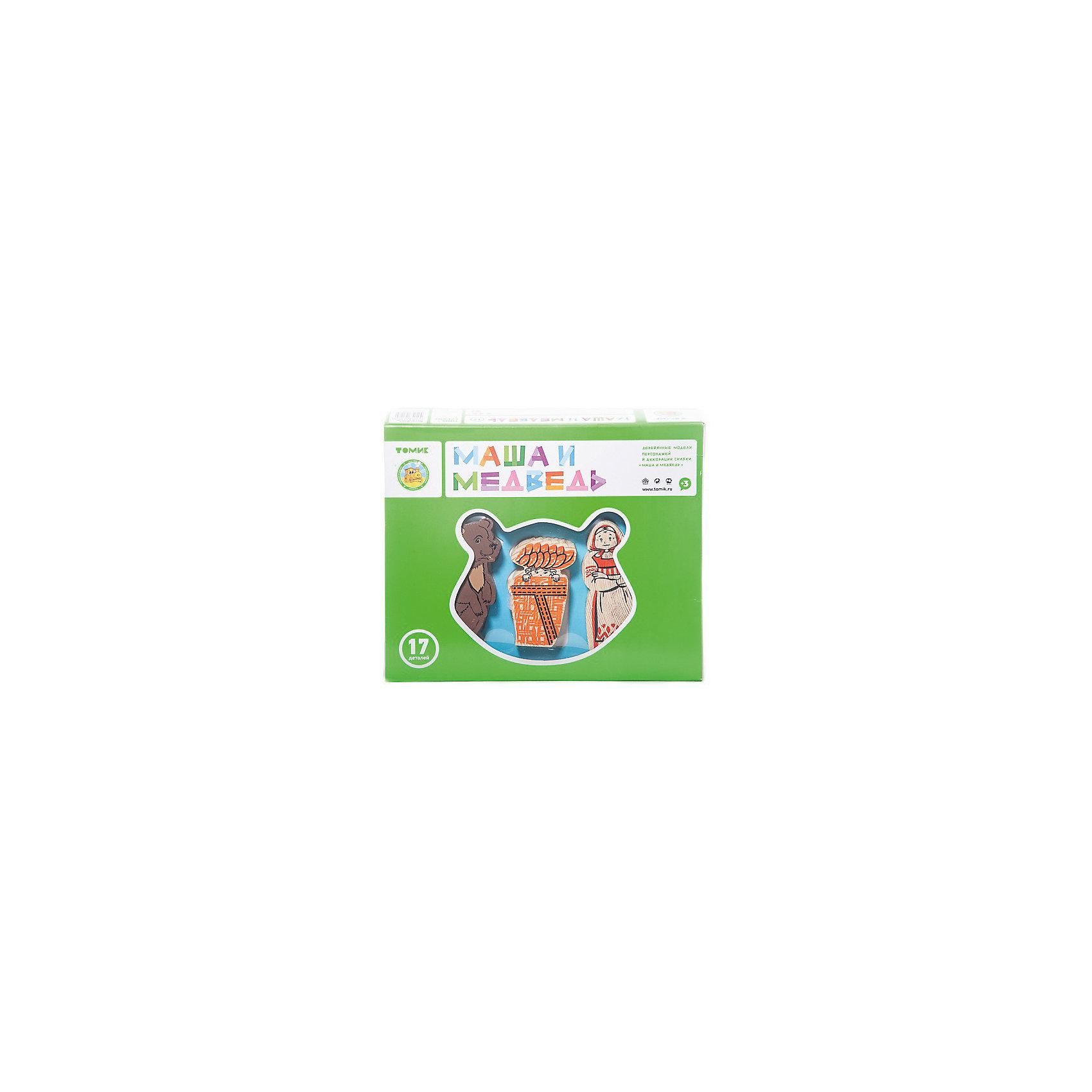 Деревянный конструктор Томик Сказки. Маша и медведь, 17 деталейДеревянные конструкторы<br>Характеристики:<br><br>• возраст: от 3 лет<br>• комплектация: 17 деталей, цветной вкладыш с текстом сказки<br>• материал: дерево<br>• упаковка: картонная коробка блистерного типа<br>• размер упаковки: 21х17х4 см.<br>• вес: 375 гр.<br><br>Набор от бренда «Томик» поможет детям вспомнить и воспроизвести известную сказку «Маша и медведь». В наборе имеются 17 деревянных деталей: детали для сборки домика; деревья; кустарники; фигурки персонажей сказки.<br><br>Элементы набора выполнены из дерева хвойных пород, окрашены стойкими красками методом шелкографии, имеют яркие насыщенные цвета, которые со временем не побледнеют. Края и грани элементов набора тщательно отшлифованы, имеют гладкую поверхность.<br><br>Набор ТОМИК 4534-9 Сказки Маша и медведь 17 дет. можно купить в нашем интернет-магазине.<br><br>Ширина мм: 210<br>Глубина мм: 170<br>Высота мм: 40<br>Вес г: 375<br>Возраст от месяцев: 36<br>Возраст до месяцев: 2147483647<br>Пол: Унисекс<br>Возраст: Детский<br>SKU: 7140545