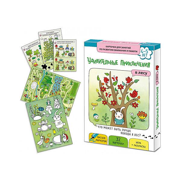 Купить Обучающие карточки Маленький гений Удивительные приключения в лесу , Россия, Унисекс