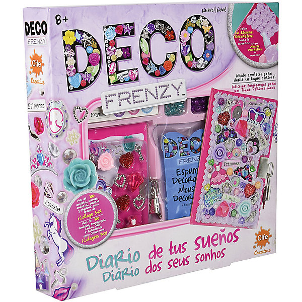 Набор для декорирования Cife Spain Business Deco Frenzy, Дневник мечтыТовары для скрапбукинга<br>Характеристики:<br><br>• размер: 30,5х30,5х5см.;<br>• материал: картон;<br>• вес: 400г.;<br>• для детей в возрасте: от 8лет;<br>• страна производитель: Китай;<br><br>Набор для декорирования Deco Frenzy (Деко Френзи) «Дневник мечты» бренда Cife Spain Business (Сайф Спейн Бизнес) станет хорошим подарком для девочек.<br><br>В наборе для рукоделия находится дневник мечты каждой девочки. Она сама сможет украсить его по своему вкусу. Для этого в комплекте имеется всё самое необходимое: множество стикеров, бусин, жемчужин, подвесок и блёсток, а также крем для фиксации и шариковая ручка.<br><br>В сделанный своими руками дневник девочка с удовольствием будет записывать все свои тайны, сны и мечты.<br><br>Создание дневника поможет развить любовь к рукоделию, фантазию, усидчивость и внимание.<br><br>Набор для декорирования Deco Frenzy (Деко Френзи) «Дневник мечты» можно купить в нашем интернет-магазине.<br>Ширина мм: 305; Глубина мм: 305; Высота мм: 50; Вес г: 400; Возраст от месяцев: 72; Возраст до месяцев: 144; Пол: Женский; Возраст: Детский; SKU: 7141898;