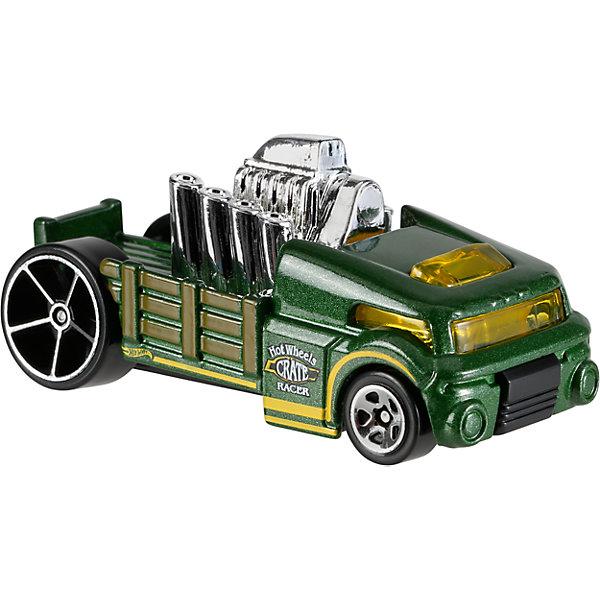 Базовая машинка Hot Wheels, Crate RacerМашинки<br>Характеристики товара:<br><br>• возраст: от 3 лет;<br>• пол: для мальчиков;<br>• масштаб: 1:64;<br>• из чего сделана игрушка (состав): металл, пластик;<br>• размер упаковки: 11х4,5х11 см.;<br>• вес: 30 гр.;<br>• упаковка: блистер на картоне;<br>• длина машинки: 7 см.;<br>• страна обладатель бренда: США.<br><br>Серия базовых моделей автомобилей «Hot Wheels» включает в себя более 400 моделей. <br><br>Машинка «Hot Wheels» Crate Racer от бренда Mattel это миниатюрная машинка рабочего городского автомобиля Crate racer, из серии «City Works». <br><br>Дизайн машины детально проработан, колеса свободно вращаются, а корпус автомобиля выполнен из металла. <br><br>Такая игрушка отлично подходит для игр юного гонщика, она абсолютно не боится ударов, а также смотрится стильно и эффектно.<br><br>Машинку «Hot Wheels» Crate Racer можно купить в нашем интернет-магазине.<br>Ширина мм: 110; Глубина мм: 45; Высота мм: 110; Вес г: 30; Возраст от месяцев: 36; Возраст до месяцев: 96; Пол: Мужской; Возраст: Детский; SKU: 7142068;