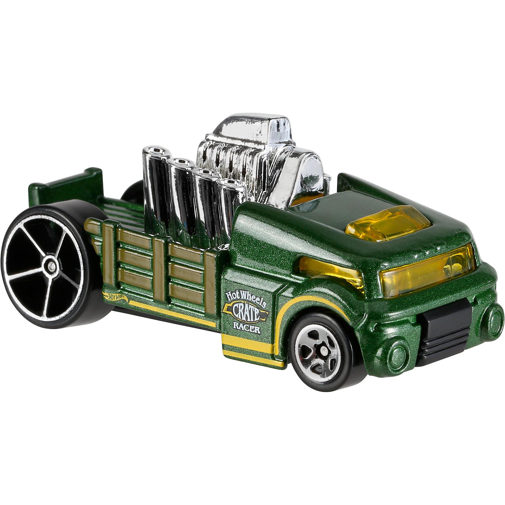 Базовая машинка Hot Wheels, Crate RacerПопулярные игрушки<br><br><br>Ширина мм: 110<br>Глубина мм: 45<br>Высота мм: 110<br>Вес г: 30<br>Возраст от месяцев: 36<br>Возраст до месяцев: 96<br>Пол: Мужской<br>Возраст: Детский<br>SKU: 7142068