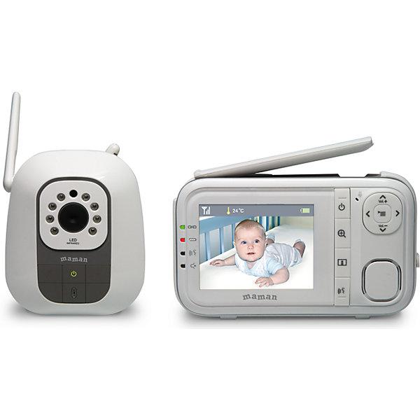 Видеоняня Maman BM3200Видеоняни<br>Характеристики:<br><br>• беспроводная система видеонаблюдения;<br>• цветной дисплей с диагональю 2,8 дюйма (7 см);<br>• функция двусторонней связи;<br>• режим голосовой активации VOX;<br>• подсветка: ИК-излучение для ночного видения;<br>• встроенный термометр для измерения температуры в детской спальне;<br>• энергосберегающий режим;<br>• виброрежим;<br>• 8 колыбельных мелодий;<br>• ZOOM – 2-кратное увеличение изображения;<br>• работа монитора и камеры в переносном режиме;<br>• отсутствие помех, автоматический поиск и настойка связи;<br>• радиус действия: до 300 метров на открытом пространстве;<br>• выдвижная антенна;<br>• размер упаковки: 23х23х9,5 см;<br>• вес: 800 г.<br><br>Комплектация:<br><br>• детский блок – камера;<br>• родительский блок – монитор;<br>• 1 аккумулятор для монитора;<br>• 2 сетевых адаптера питания;<br>• инструкция.<br><br>Видеоняню Maman BM3200 можно купить в нашем интернет-магазине.<br>Ширина мм: 95; Глубина мм: 230; Высота мм: 230; Вес г: 800; Возраст от месяцев: -2147483648; Возраст до месяцев: 2147483647; Пол: Унисекс; Возраст: Детский; SKU: 7142159;