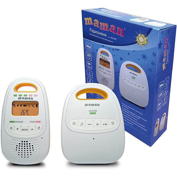 Радионяня Maman ВМ2000Радионяни<br>Характеристики:<br><br>• беспроводная система аудио наблюдения;<br>• дальность 300 м;<br>• отсутствие помех;<br>• автоматическая система настойки каналов связи;<br>• режим обратной связи;<br>• режим ЭКО;<br>• встроенный термометр;<br>• воспроизведение мелодий;<br>• регулятор громкости;<br>• ночник;<br>• встроенное зарядное устройство;<br>• родительский блок работает от сети или от батареек;<br>• детский блок работает от сети;<br>• адаптер в комплекте;<br>• размер упаковки: 23х18х6,5 см;<br>• вес: 500 г.<br><br>Комплектация:<br><br>• детский блок, <br>• родительский блок, <br>• сетевой адаптер, <br>• подставка с сетевым адаптером, <br>• аккумуляторы,<br>• руководство пользователя.<br><br>Радионяню Maman ВМ2000 можно купить в нашем интернет-магазине.<br>Ширина мм: 65; Глубина мм: 180; Высота мм: 230; Вес г: 500; Возраст от месяцев: -2147483648; Возраст до месяцев: 2147483647; Пол: Унисекс; Возраст: Детский; SKU: 7142168;
