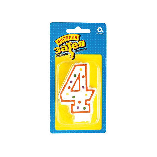 Свеча для торта Веселая затея Цифра 4, 7,6 смНовинки для праздника<br>Характеристики товара:<br><br>• возраст: от 3 лет;<br>• упаковка: пакет с хедером;<br>• количество в упаковки - 1 шт.;<br>• высота изделия - 7,6 см.;<br>• материал: дерево, бумага;<br>• бренд: Веселая Затея;<br>• страна-производитель: Китай.<br><br>Праздничная свечка «Цифра 4» станет лучшим вариантом украшения торта на праздновании Дня рождения. С помощью свечи для торта  «Цифра 4» с красной оконтовкой вы порадуете себя и своих близких, и сделаете день рождения незабываемым.  <br><br>Свечка  от российского бренда Веселая Затея изготовлены из высококачественных нетоксичных материалов и безопасны для детского здоровья. Фитиль по мере сгорания не создает большого пламени и нагара.<br><br>Праздничную свечку «Цифра 4», 7,6 см., 1 шт., Веселая Затея можно купить в нашем интернет-магазине.<br><br>Ширина мм: 145<br>Глубина мм: 15<br>Высота мм: 75<br>Вес г: 32<br>Возраст от месяцев: 36<br>Возраст до месяцев: 2147483647<br>Пол: Унисекс<br>Возраст: Детский<br>SKU: 7142860