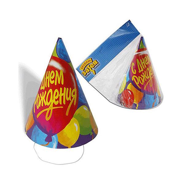 Праздничный колпак Веселя затея С днем рождения. Шары, 8 штДетские шляпы и колпаки<br>Характеристики товара:<br><br>• возраст: от 3 лет;<br>• упаковка: пакет с хедером;<br>• количество в упаковке - 8 шт.;<br>• габариты изделия - 17,5х13х13 см.;<br>• материал: плотный картон, текстиль;<br>• бренд: Веселая Затея;<br>• страна-производитель: Китай.<br><br>Праздничный колпак «С ДНЕМ РОЖДЕНИЯ» - это набор из 8-ми ярких аксессуаров на голову с изображением шаров оживят любую вечеринку или мероприятие и придадут им незабываемую атмосферу. <br><br>Колпаки от российского бренда Веселая Затея, который на протяжении многих лет производит качественные товары для детского праздника, товар изготовлен из безопасных для здоровья ребенка материалов, прошедших соответствие европейским стандартам качества. <br><br>Праздничные колпаки «С ДНЕМ РОЖДЕНИЯ», 8 шт., Веселая Затея  можно купить в нашем интернет-магазине.<br>Ширина мм: 170; Глубина мм: 140; Высота мм: 36; Вес г: 105; Возраст от месяцев: 36; Возраст до месяцев: 2147483647; Пол: Унисекс; Возраст: Детский; SKU: 7142873;
