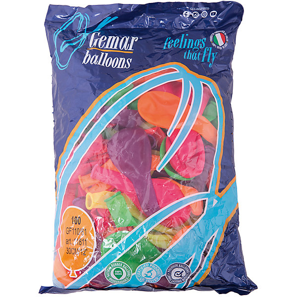 Воздушные шары 12 Веселая затея 100 шт, 30 см (12 цветов неон)Воздушные шары<br>Характеристики товара:<br><br>• возраст: от 3 лет;<br>• упаковка: пакет с хедером;<br>• количество шаров: 100 шт.;<br>• диаметр: 30 см.;<br>• цвет: мульти неон;<br>• состав: латекс 100%;<br>• бренд, страна: Веселая Затея, Россия;<br>• страна-производитель: Италия.<br><br>Набор из 100 шаров 12-ти неоновых цветов помогут ярко украсить комнату и подарят заряд радости и позитива всем гостям вашего торжества. Благодаря использованию специальных пигментов, входящим в состав, шары светятся в темноте, в ультрафиолетовом освещении.<br><br>Насыщенный цвет, легкое надувание и высококачественные материалы выгодно отличают их среди других праздничных аксессуаров. Вы можете надувать шарики самостоятельно или воспользоваться насосом, который быстро справится с задачей. <br><br>Набор из 100 неоновых шаров, 12 неоновых цветов,  Веселая Затея  можно купить в нашем интернет-магазине.<br>Ширина мм: 365; Глубина мм: 270; Высота мм: 20; Вес г: 360; Возраст от месяцев: -2147483648; Возраст до месяцев: 2147483647; Пол: Унисекс; Возраст: Детский; SKU: 7142884;