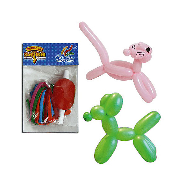 Воздушные шары для моделирования Веселая затея 100 шт, с насосомВоздушные шары<br>Характеристики товара:<br><br>• возраст: от 3 лет;<br>• упаковка: пакет с хедером;<br>• количество шаров: 10 шт.;<br>• длина: 60 см.;<br>• цвет: мультиколор;<br>• насос в комплекте;<br>• состав: латекс 100%;<br>• бренд, страна: Веселая Затея, Россия;<br>• страна-производитель: Италия.<br><br>Комплект 10 шаров для моделирования разных цветов помогут ярко украсить комнату и подарят заряд радости и позитива. Прочность и гибкость шариков из натурального латекса позволят создать из них всё что угодно - причудливого пуделя или диковинную птичку - всё зависит от вашей фантазии! <br><br>Насыщенный цвет, легкое надувание и высококачественные материалы выгодно отличают их среди других праздничных аксессуаров. Вы можете надувать шарики насосом, входящим в комплект, который быстро справится с задачей. <br><br>Комплект 10 шаров для моделирования, с насосом, Веселая Затея  можно купить в нашем интернет-магазине.<br><br>Ширина мм: 125<br>Глубина мм: 198<br>Высота мм: 15<br>Вес г: 42<br>Возраст от месяцев: -2147483648<br>Возраст до месяцев: 2147483647<br>Пол: Унисекс<br>Возраст: Детский<br>SKU: 7142895