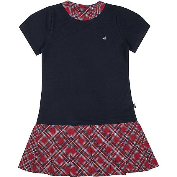 Платье Апрель для девочкиПлатья и сарафаны<br>Характеристики товара:<br><br>• цвет: синий<br>• состав ткани: 95% хлопок, 5% лайкра <br>• сезон: демисезон<br>• короткие рукава<br>• страна бренда: Россия<br>• страна производства: Россия<br><br>Такое платье для ребенка оригинально смотрится благодаря плиссированному низу. Модное платье для девочки от бренда Апрель обеспечивает комфорт благодаря качественным швам и дышащему материалу. Детское платье выглядит аккуратно и стильно. <br><br>Платье Апрель для девочки можно купить в нашем интернет-магазине.<br><br>Ширина мм: 196<br>Глубина мм: 10<br>Высота мм: 154<br>Вес г: 152<br>Цвет: темно-синий<br>Возраст от месяцев: 120<br>Возраст до месяцев: 132<br>Пол: Женский<br>Возраст: Детский<br>Размер: 146,116,140,134,128,122<br>SKU: 7143271