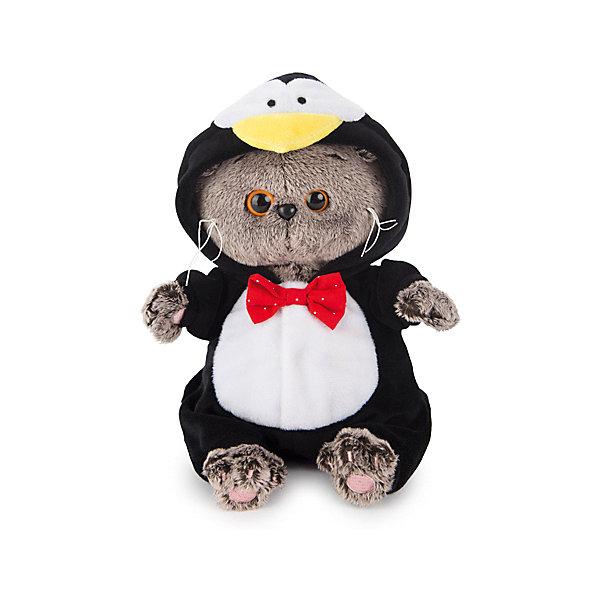Басик BABY в костюме пингвинаМягкие игрушки животные<br>Характеристики товара:<br><br>• возраст: от 3 лет;<br>• материал: текстиль, искусственный мех;<br>• высота игрушки: 20 см;<br>• размер упаковки: 22х15х11 см;<br>• вес упаковки: 320 гр.;<br>• страна производитель: Россия.<br><br>Мягкая игрушка «Басик Baby в костюме пингвина» Budi Basa - очаровательный пушистый котенок с добрыми глазками. Басик еще совсем малыш. Он одет в костюм пингвина с капюшоном в виде мордочки. Украшает костюмчик яркая красная бабочка. Игрушка выполнена из качественного безопасного материала, настолько приятного и мягкого, что ребенок будет брать с собой котенка в кроватку и спать в обнимку.<br><br>Мягкую игрушку «Басик Baby в костюме пингвина» Budi Basa можно приобрести в нашем интернет-магазине.<br><br>Ширина мм: 22<br>Глубина мм: 15<br>Высота мм: 11<br>Вес г: 320<br>Возраст от месяцев: 36<br>Возраст до месяцев: 84<br>Пол: Женский<br>Возраст: Детский<br>SKU: 7143351
