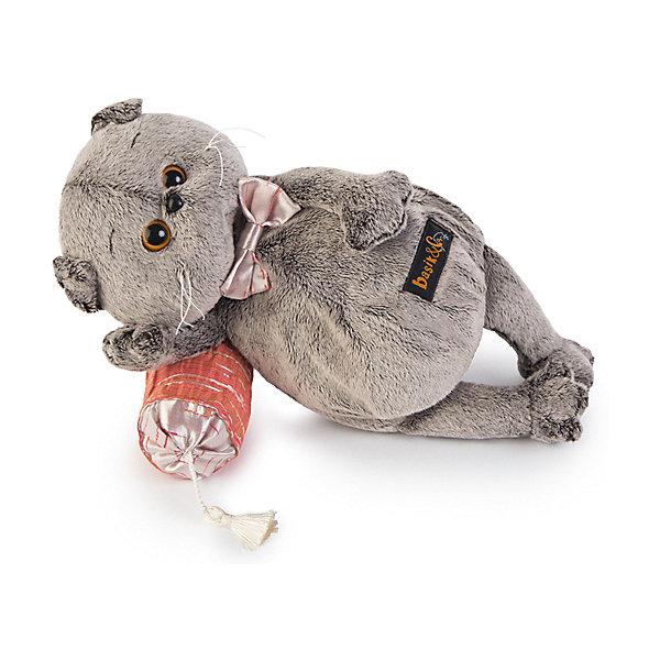 Басик на подушке-думочкеМягкие игрушки животные<br>Характеристики товара:<br><br>• возраст: от 3 лет;<br>• материал: текстиль, искусственный мех;<br>• в комплекте: игрушка, подушка;<br>• высота игрушки: 26 см;<br>• размер упаковки: 27х16х14 см;<br>• вес упаковки: 480 гр.;<br>• страна производитель: Россия.<br><br>Мягкая игрушка «Басик на подушке-думочке» Budi Basa - очаровательный пушистый котенок с добрыми глазками. Басик отдыхает на мягкой подушечке. Подушечка дополнена кисточкой из шелковых нитей. На самом котике серебристая бабочка. Игрушка выполнена из качественного безопасного материала, настолько приятного и мягкого, что ребенок будет брать с собой котенка в кроватку и спать в обнимку.<br><br>Мягкую игрушку «Басик на подушке-думочке» Budi Basa можно приобрести в нашем интернет-магазине.<br><br>Ширина мм: 27<br>Глубина мм: 16<br>Высота мм: 14<br>Вес г: 480<br>Возраст от месяцев: 36<br>Возраст до месяцев: 84<br>Пол: Женский<br>Возраст: Детский<br>SKU: 7143358