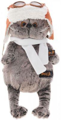 Мягкая игрушка Budi Basa Кот Басик в шлеме и шарфе, 19 см