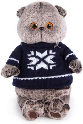 Мягкая игрушка Budi Basa Кот Басик в свитере, 19 см