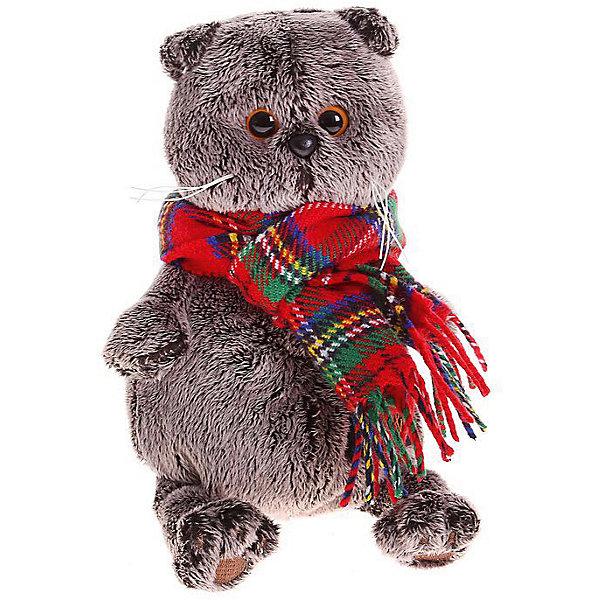 Басик и красный шарф в клеточкуМягкие игрушки животные<br>Характеристики товара:<br><br>• возраст: от 3 лет;<br>• материал: текстиль, искусственный мех;<br>• высота игрушки: 30 см;<br>• размер упаковки: 32х18х16 см;<br>• вес упаковки: 633 гр.;<br>• страна производитель: Россия.<br><br>Мягкая игрушка «Басик и красный шарф в клеточку» Budi Basa - очаровательный пушистый котенок с добрыми глазками. На Басике теплый шарфик в клеточку, который согреет его даже в холодную зиму. Игрушка выполнена из качественного безопасного материала, настолько приятного и мягкого, что ребенок будет брать с собой котенка в кроватку и спать в обнимку.<br><br>Мягкую игрушку «Басик и красный шарф в клеточку» Budi Basa можно приобрести в нашем интернет-магазине.<br><br>Ширина мм: 32<br>Глубина мм: 18<br>Высота мм: 16<br>Вес г: 633<br>Возраст от месяцев: 36<br>Возраст до месяцев: 84<br>Пол: Женский<br>Возраст: Детский<br>SKU: 7143393