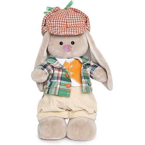 Одежда для Зайки Ми большого Budi Basa, пиджак в клетку и кепкаМягкие игрушки зайцы и кролики<br>Характеристики товара:<br><br>• возраст: от 3 лет;<br>• материал: текстиль;<br>• в комплекте: пиджак, кепка, штаны, жилет, рубашка;<br>• размер упаковки: 20х17х4 см;<br>• вес упаковки: 100 гр.;<br>• страна производитель: Россия.<br><br>Комплект одежды для Зайки Ми Budi Basa — дополнительный комплект для большого зайки. В него входят вельветовые штанишки, теплый пиджак в клетку, оранжевый жилет, белоснежная хлопковая рубашка и твидовая кепка. <br><br>Комплект одежды для Зайки Ми Budi Basa можно приобрести в нашем интернет-магазине.<br><br>Ширина мм: 17<br>Глубина мм: 4<br>Высота мм: 20<br>Вес г: 100<br>Возраст от месяцев: 36<br>Возраст до месяцев: 84<br>Пол: Женский<br>Возраст: Детский<br>SKU: 7143418