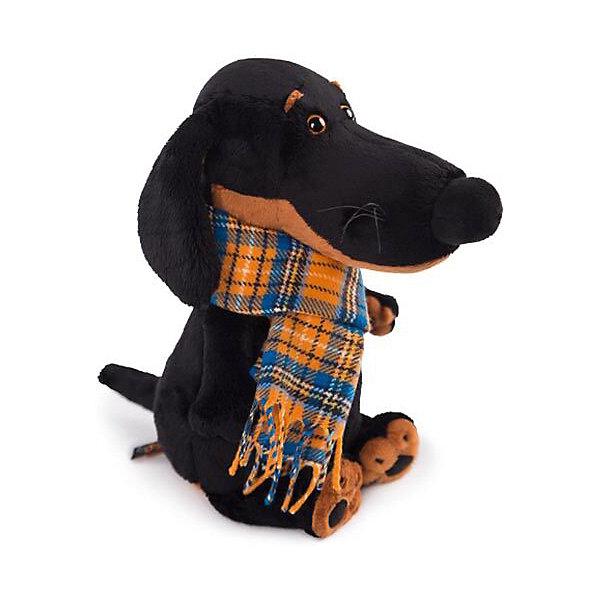Мягкая игрушка Budi Basa Собака Ваксон в шарфе, 25 смСимвол 2018 года: Собака<br>Характеристики товара:<br><br>• возраст: от 3 лет;<br>• материал: текстиль, искусственный мех;<br>• высота игрушки: 25 см;<br>• размер упаковки: 28х16х14 см;<br>• вес упаковки: 450 гр.;<br>• страна производитель: Россия.<br><br>Мягкая игрушка «Ваксон в шарфе» Budi Basa — очаровательный песик с добрыми глазками и длинными ушками. На Ваксоне одет теплый клетчатый шарфик. Игрушка выполнена из качественного безопасного материала, настолько приятного и мягкого, что ребенок будет брать с собой собачку в кроватку и спать в обнимку.<br><br>Мягкую игрушку «Ваксон в шарфе» Budi Basa можно приобрести в нашем интернет-магазине.<br><br>Ширина мм: 16<br>Глубина мм: 14<br>Высота мм: 28<br>Вес г: 450<br>Возраст от месяцев: 36<br>Возраст до месяцев: 84<br>Пол: Женский<br>Возраст: Детский<br>SKU: 7143421