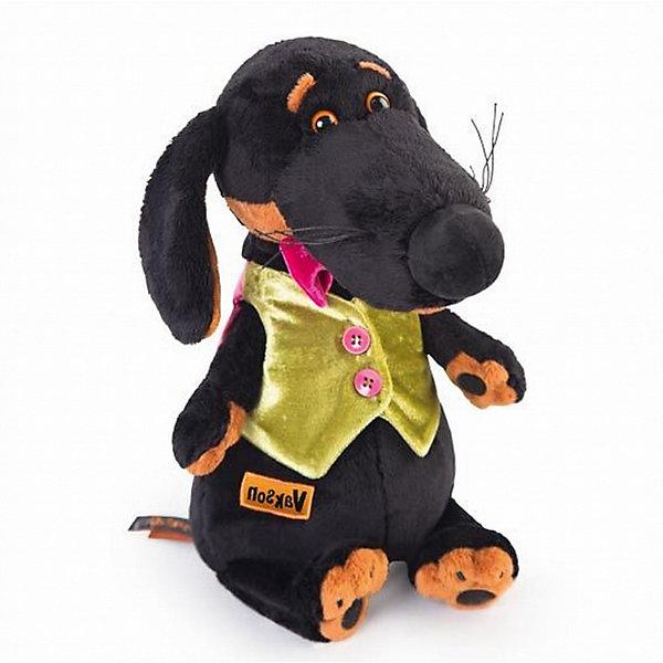Купить Мягкая игрушка Budi Basa Собака Ваксон в жилетке, 25 см, Россия, Женский