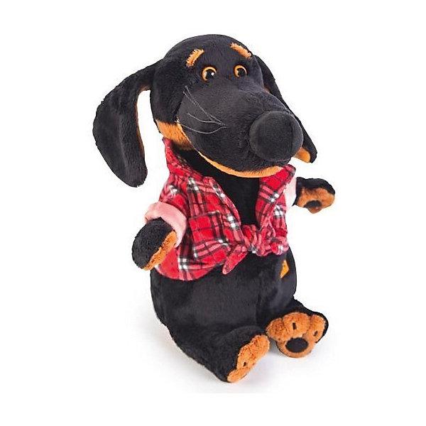 Мягкая игрушка Budi Basa Собака Ваксон в рубашке, 25 смСимвол 2018 года: Собака<br>Характеристики товара:<br><br>• возраст: от 3 лет;<br>• материал: текстиль, искусственный мех;<br>• высота игрушки: 25 см;<br>• размер упаковки: 28х16х14 см;<br>• вес упаковки: 450 гр.;<br>• страна производитель: Россия.<br><br>Мягкая игрушка «Ваксон в рубашке» Budi Basa — очаровательный песик с добрыми глазками и длинными ушками. Ваксон одет в клетчатую рубашку, повязанную на поясе. Игрушка выполнена из качественного безопасного материала, настолько приятного и мягкого, что ребенок будет брать с собой собачку в кроватку и спать в обнимку.<br><br>Мягкую игрушку «Ваксон в рубашке» Budi Basa можно приобрести в нашем интернет-магазине.<br><br>Ширина мм: 16<br>Глубина мм: 14<br>Высота мм: 28<br>Вес г: 450<br>Возраст от месяцев: 36<br>Возраст до месяцев: 84<br>Пол: Женский<br>Возраст: Детский<br>SKU: 7143425