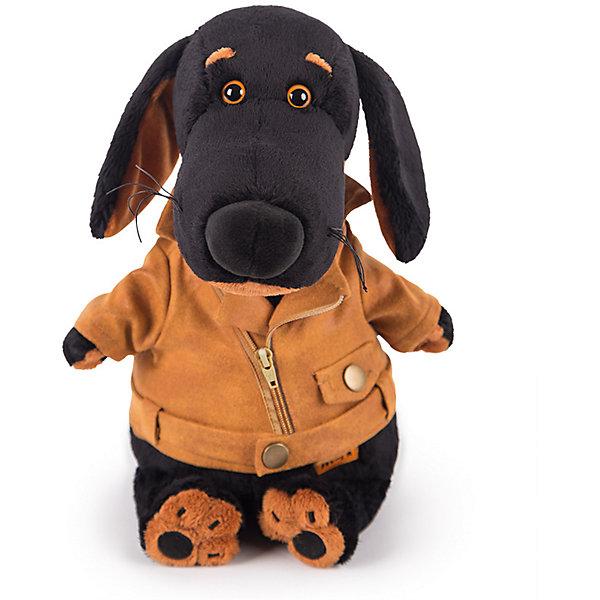Мягкая игрушка Budi Basa Собака Ваксон в косухе, 25 смСимвол 2018 года: Собака<br>Характеристики товара:<br><br>• возраст: от 3 лет;<br>• материал: текстиль, искусственный мех;<br>• высота игрушки: 25 см;<br>• размер упаковки: 28х16х14 см;<br>• вес упаковки: 450 гр.;<br>• страна производитель: Россия.<br><br>Мягкая игрушка «Ваксон в косухе» Budi Basa — очаровательный песик с добрыми глазками и длинными ушками. Ваксон одет в куртку-косуху на молнии с карманом. Игрушка выполнена из качественного безопасного материала, настолько приятного и мягкого, что ребенок будет брать с собой собачку в кроватку и спать в обнимку.<br><br>Мягкую игрушку «Ваксон в косухе» Budi Basa можно приобрести в нашем интернет-магазине.<br><br>Ширина мм: 16<br>Глубина мм: 14<br>Высота мм: 28<br>Вес г: 450<br>Возраст от месяцев: 36<br>Возраст до месяцев: 84<br>Пол: Женский<br>Возраст: Детский<br>SKU: 7143426