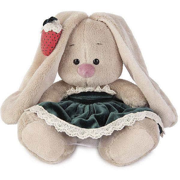 Мягкая игрушка Budi Basa Зайка Ми в бархатном платье и клубничкой на ушке, 15 смМягкие игрушки зайцы и кролики<br>Характеристики товара:<br><br>• возраст: от 3 лет;<br>• материал: текстиль, искусственный мех;<br>• высота игрушки: 15 см;<br>• размер упаковки: 14х14х15 см;<br>• вес упаковки: 250 гр.;<br>• страна производитель: Россия.<br><br>Мягкая игрушка «Зайка Ми в бархатном платье и клубничкой на ушке» Budi Basa — очаровательный пушистый зайчонок с длинными ушками. Зайка Ми одета в зеленое бархатное платье с кружевом. Ушко украшает заколочка в виде клубники. Игрушка выполнена из качественного безопасного материала, настолько приятного и мягкого, что ребенок будет брать с собой зайку в кроватку и спать в обнимку.<br><br>Мягкую игрушку «Зайка Ми в бархатном платье и клубничкой на ушке» Budi Basa можно приобрести в нашем интернет-магазине.<br><br>Ширина мм: 14<br>Глубина мм: 14<br>Высота мм: 15<br>Вес г: 250<br>Возраст от месяцев: 36<br>Возраст до месяцев: 84<br>Пол: Женский<br>Возраст: Детский<br>SKU: 7143427
