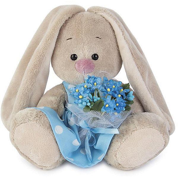 Зайка Ми  в голубом платье с букетом незабудок(малыш)Мягкие игрушки зайцы и кролики<br>Характеристики товара:<br><br>• возраст: от 3 лет;<br>• материал: текстиль, искусственный мех;<br>• высота игрушки: 15 см;<br>• размер упаковки: 14х14х13 см;<br>• вес упаковки: 250 гр.;<br>• страна производитель: Россия.<br><br>Мягкая игрушка «Зайка Ми в голубом платье с букетом незабудок» Budi Basa — очаровательный пушистый зайчонок с длинными ушками. Зайка Ми одета в хлопковое платье в горошек, а в лапках она держит букет цветов. Игрушка выполнена из качественного безопасного материала, настолько приятного и мягкого, что ребенок будет брать с собой зайку в кроватку и спать в обнимку.<br><br>Мягкую игрушку «Зайка Ми в голубом платье с букетом незабудок» Budi Basa можно приобрести в нашем интернет-магазине.<br><br>Ширина мм: 14<br>Глубина мм: 14<br>Высота мм: 13<br>Вес г: 250<br>Возраст от месяцев: 36<br>Возраст до месяцев: 84<br>Пол: Женский<br>Возраст: Детский<br>SKU: 7143430