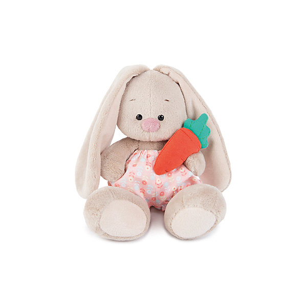 Зайка Ми  в панталончиках и с морковкой(малыш)Мягкие игрушки зайцы и кролики<br>Характеристики товара:<br><br>• возраст: от 3 лет;<br>• материал: текстиль, искусственный мех;<br>• высота игрушки: 15 см;<br>• размер упаковки: 14х14х13 см;<br>• вес упаковки: 250 гр.;<br>• страна производитель: Россия.<br><br>Мягкая игрушка «Зайка Ми в панталончиках и с морковкой» Budi Basa — очаровательный пушистый зайчонок с длинными ушками. На зайке Ми одеты хлопковые розовые штанишки, а в лапках она держит морковку. Игрушка выполнена из качественного безопасного материала, настолько приятного и мягкого, что ребенок будет брать с собой зайку в кроватку и спать в обнимку.<br><br>Мягкую игрушку «Зайка Ми в панталончиках и с морковкой» Budi Basa можно приобрести в нашем интернет-магазине.<br><br>Ширина мм: 14<br>Глубина мм: 14<br>Высота мм: 13<br>Вес г: 250<br>Возраст от месяцев: 36<br>Возраст до месяцев: 84<br>Пол: Женский<br>Возраст: Детский<br>SKU: 7143433