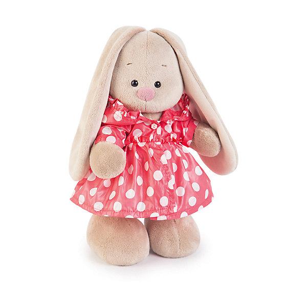 Мягкая игрушка Budi Basa Зайка Ми в плащике, 32 смМягкие игрушки зайцы и кролики<br>Характеристики товара:<br><br>• возраст: от 3 лет;<br>• материал: текстиль, искусственный мех;<br>• высота игрушки: 32 см;<br>• размер упаковки: 34х20х17 см;<br>• вес упаковки: 666 гр.;<br>• страна производитель: Россия.<br><br>Мягкая игрушка «Зайка Ми в плащике» Budi Basa — очаровательный пушистый зайчонок с длинными ушками. Зайка Ми одета в розовый плащ в горошек с большим капюшоном. Игрушка выполнена из качественного безопасного материала, настолько приятного и мягкого, что ребенок будет брать с собой зайку в кроватку и спать в обнимку.<br><br>Мягкую игрушку «Зайка Ми в плащике» Budi Basa можно приобрести в нашем интернет-магазине.<br>Ширина мм: 34; Глубина мм: 20; Высота мм: 17; Вес г: 666; Возраст от месяцев: 36; Возраст до месяцев: 84; Пол: Женский; Возраст: Детский; SKU: 7143434;