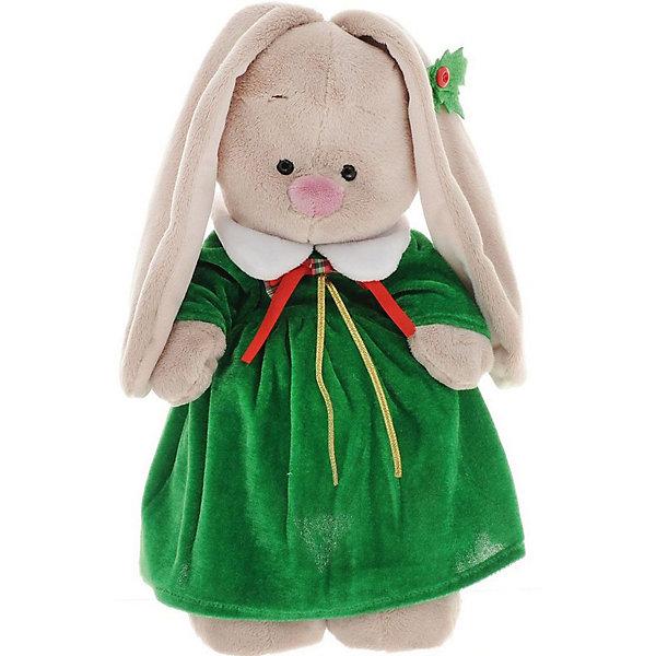 Мягкая игрушка Budi Basa Зайка Ми в рождественском платье, 25 смМягкие игрушки зайцы и кролики<br>Характеристики товара:<br><br>• возраст: от 3 лет;<br>• материал: текстиль, искусственный мех;<br>• высота игрушки: 25 см;<br>• размер упаковки: 31х17х13 см;<br>• вес упаковки: 483 гр.;<br>• страна производитель: Россия.<br><br>Мягкая игрушка «Зайка Ми в рождественском платье» Budi Basa — очаровательный пушистый зайчонок с длинными ушками. Зайка Ми одета в зеленое бархатное платье с красным бантиком. На ушке у зайки зеленый листочек. Игрушка выполнена из качественного безопасного материала, настолько приятного и мягкого, что ребенок будет брать с собой зайку в кроватку и спать в обнимку.<br><br>Мягкую игрушку «Зайка Ми в рождественском платье» Budi Basa можно приобрести в нашем интернет-магазине.<br>Ширина мм: 31; Глубина мм: 17; Высота мм: 13; Вес г: 483; Возраст от месяцев: 36; Возраст до месяцев: 84; Пол: Женский; Возраст: Детский; SKU: 7143437;