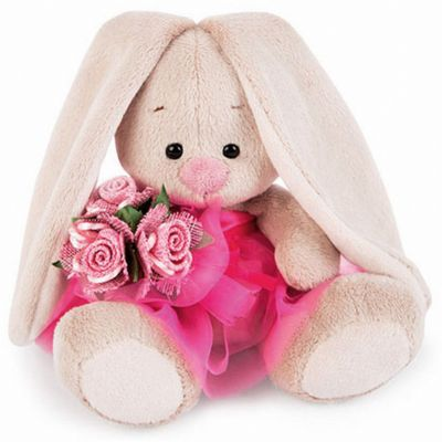 Мягкая игрушка Budi Basa Зайка Ми в розовой юбочке с букетом, 15 см фото-1