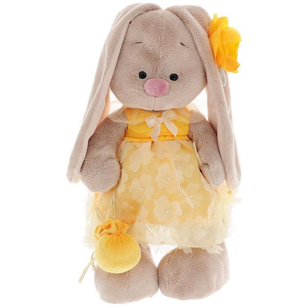 Мягкая игрушка Budi Basa Зайка Ми Амели, 32 смМягкие игрушки зайцы и кролики<br>Характеристики товара:<br><br>• возраст: от 3 лет;<br>• материал: текстиль, искусственный мех;<br>• высота игрушки: 32 см;<br>• размер упаковки: 34х20х17 см;<br>• вес упаковки: 666 гр.;<br>• страна производитель: Россия.<br><br>Мягкая игрушка «Зайка Ми Амели» Budi Basa — очаровательный пушистый зайчонок с длинными ушками. Зайка Ми одета в желтое платьице с воротником. На ушке у зайки желтый цветочек, а в лапке она держит сумочку. Игрушка выполнена из качественного безопасного материала, настолько приятного и мягкого, что ребенок будет брать с собой зайку в кроватку и спать в обнимку.<br><br>Мягкую игрушку «Зайка Ми Амели» Budi Basa можно приобрести в нашем интернет-магазине.<br><br>Ширина мм: 34<br>Глубина мм: 20<br>Высота мм: 17<br>Вес г: 666<br>Возраст от месяцев: 36<br>Возраст до месяцев: 84<br>Пол: Женский<br>Возраст: Детский<br>SKU: 7143442