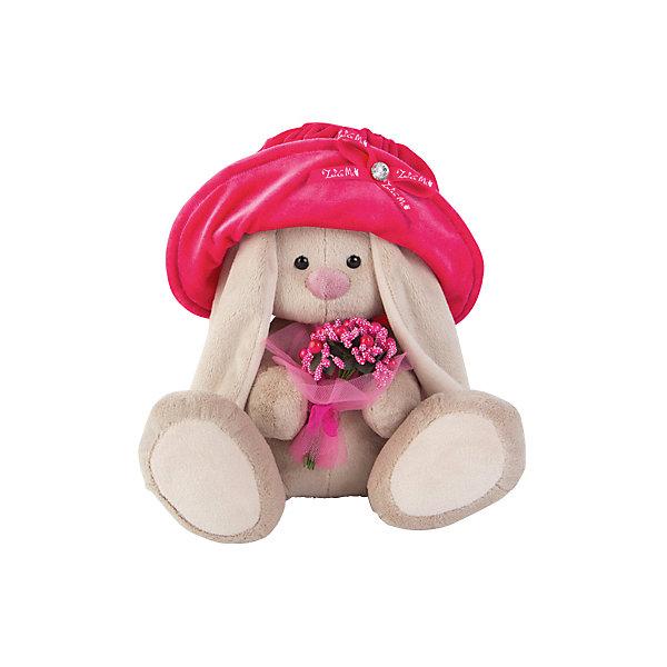 Мягкая игрушка Budi Basa Зайка Ми в бархатной шляпе с букетом, 32 смМягкие игрушки зайцы и кролики<br>Характеристики товара:<br><br>• возраст: от 3 лет;<br>• материал: текстиль, искусственный мех;<br>• высота игрушки: 23 см;<br>• размер упаковки: 18х18х17 см;<br>• вес упаковки: 466 гр.;<br>• страна производитель: Россия.<br><br>Мягкая игрушка «Зайка Ми в бархатной шляпе с букетиком» Budi Basa — очаровательный пушистый зайчонок с длинными ушками. На зайке большая розовая шляпка, а в лапках она держит букет цветов. Игрушка выполнена из качественного безопасного материала, настолько приятного и мягкого, что ребенок будет брать с собой зайку в кроватку и спать в обнимку.<br><br>Мягкую игрушку «Зайка Ми в бархатной шляпе с букетиком» Budi Basa можно приобрести в нашем интернет-магазине.<br><br>Ширина мм: 18<br>Глубина мм: 17<br>Высота мм: 18<br>Вес г: 466<br>Возраст от месяцев: 36<br>Возраст до месяцев: 84<br>Пол: Женский<br>Возраст: Детский<br>SKU: 7143444