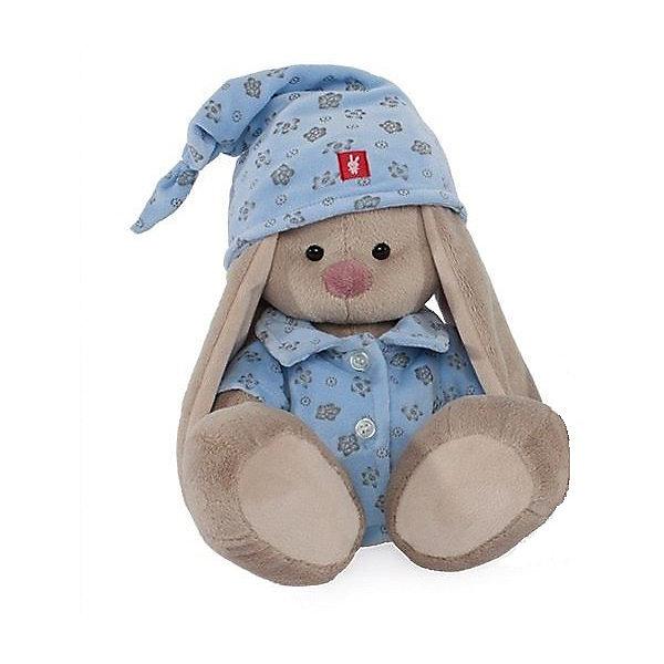 Мягкая игрушка Budi Basa Зайка Ми в голубой пижаме, 23 смМягкие игрушки зайцы и кролики<br>Характеристики товара:<br><br>• возраст: от 3 лет;<br>• материал: текстиль, искусственный мех;<br>• высота игрушки: 23 см;<br>• размер упаковки: 31х17х13 см;<br>• вес упаковки: 483 гр.;<br>• страна производитель: Россия.<br><br>Мягкая игрушка «Зайка Ми в голубой пижаме» Budi Basa — очаровательный пушистый зайчонок с длинными ушками. Зайка Ми одета в хлопковую пижаму и колпачок. Игрушка выполнена из качественного безопасного материала, настолько приятного и мягкого, что ребенок будет брать с собой зайку в кроватку и спать в обнимку.<br><br>Мягкую игрушку «Зайка Ми в голубой пижаме» Budi Basa можно приобрести в нашем интернет-магазине.<br><br>Ширина мм: 31<br>Глубина мм: 17<br>Высота мм: 13<br>Вес г: 483<br>Возраст от месяцев: 36<br>Возраст до месяцев: 84<br>Пол: Женский<br>Возраст: Детский<br>SKU: 7143447