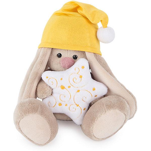 Мягкая игрушка Budi Basa Зайка Ми в колпачке и со звездочкой, 15 смМягкие игрушки зайцы и кролики<br>Характеристики товара:<br><br>• возраст: от 3 лет;<br>• материал: текстиль, искусственный мех;<br>• высота игрушки: 15 см;<br>• размер упаковки: 14х14х13 см;<br>• вес упаковки: 250 гр.;<br>• страна производитель: Россия.<br><br>Мягкая игрушка «Зайка Ми в колпачке и со звездочкой» Budi Basa — очаровательный пушистый зайчонок с длинными ушками. На зайке желтый колпак, а в лапках она держит мягкую подушку в виде звездочки. Игрушка выполнена из качественного безопасного материала, настолько приятного и мягкого, что ребенок будет брать с собой зайку в кроватку и спать в обнимку.<br><br>Мягкую игрушку «Зайка Ми в колпачке и со звездочкой» Budi Basa можно приобрести в нашем интернет-магазине.<br><br>Ширина мм: 14<br>Глубина мм: 14<br>Высота мм: 13<br>Вес г: 250<br>Возраст от месяцев: 36<br>Возраст до месяцев: 84<br>Пол: Женский<br>Возраст: Детский<br>SKU: 7143448