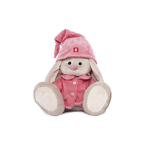 Мягкая игрушка Budi Basa Зайка Ми в розовой пижаме, 32 смМягкие игрушки зайцы и кролики<br>Характеристики товара:<br><br>• возраст: от 3 лет;<br>• материал: текстиль, искусственный мех;<br>• высота игрушки: 23 см;<br>• размер упаковки: 18х18х17 см;<br>• вес упаковки: 466 гр.;<br>• страна производитель: Россия.<br><br>Мягкая игрушка «Зайка Ми в розовой пижаме» Budi Basa — очаровательный пушистый зайчонок с длинными ушками. На зайке розовая пижама на пуговицах и колпак. Игрушка выполнена из качественного безопасного материала, настолько приятного и мягкого, что ребенок будет брать с собой зайку в кроватку и спать в обнимку.<br><br>Мягкую игрушку «Зайка Ми в розовой пижаме» Budi Basa можно приобрести в нашем интернет-магазине.<br><br>Ширина мм: 18<br>Глубина мм: 17<br>Высота мм: 18<br>Вес г: 466<br>Возраст от месяцев: 36<br>Возраст до месяцев: 84<br>Пол: Женский<br>Возраст: Детский<br>SKU: 7143454